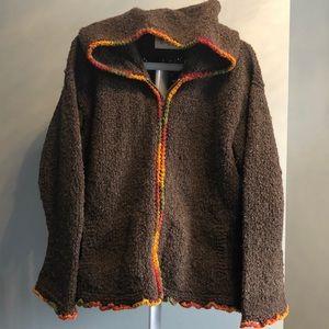 Beautiful wool zip up sweater